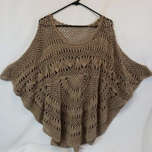 Tops - Crocheted top mocha Festivals! One size